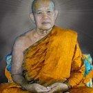 LP FAN ARJARO COIN BLESS 1970 THAI BUDDHA AMULET LUCKY SUCCESS PENDANT NECKLACE