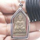 SHINARAJ SEMA LEAF BUDDHA ANTIQUE MAGIC THAI AMULET LUCKY RICH PENDANT NECKLACE