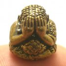 TINY BALL LP TIM PIDTA PITTA SANGKAJAI RICH LUCKY HAPPY BUDDHA THAI MINI AMULET