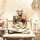 LP BOON JAOSUA BILLIONAIRE METAL COIN IN 1928 BUDDHA THAI ANTIQUE AMULET PENDANT
