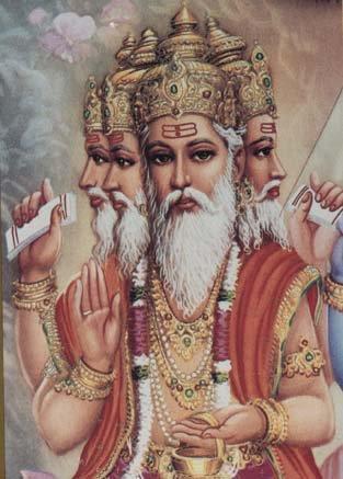LORD BRAHMA PHRA PROM TRIMURTI HINDU GOD DEITY BLESSED AMULET PENDANT NECKLACE