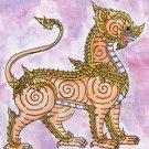 SINGHA RAJASI THAI MAGIC LION BRASS PENDANT AMULET STRONG PROTECTION NECKLACE