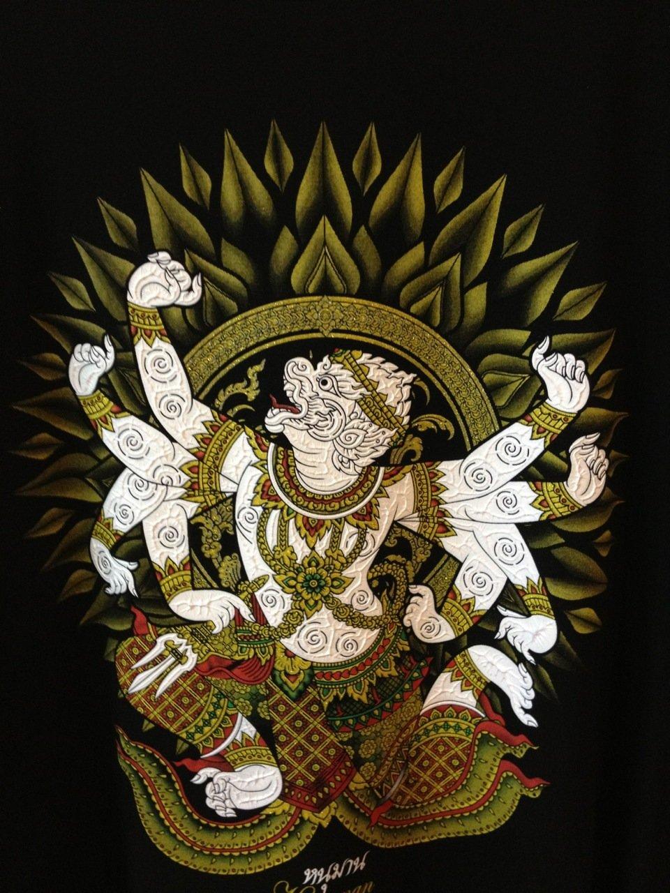 THAI BUDDHA AMULET LP PARN RIDE SMALL LORD HANUMAN LUCKY RICH PENDANT RARE GIFT
