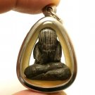 LP KRON CRON PIDTA PITTA CLOSE EYES BUDDHA REAL THAI AMULET PENDANT LUCKY GAMBLE