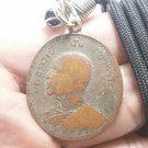 LP FAN AJARO COIN BLESSED 1970 THAI BUDDHA AMULET LUCKY SUCCESS PENDANT NECKLACE