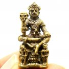 THAI MINI AMULET PHAYAYOM KING OF DEATH SIT SKULL THRONE BLESS STRONG PROTECTION