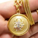 GANESHA GANAPATI VINAYAKA LORD GANESH MAGIC HERMIT PENDANT GOLD PLATED NECKLACE