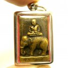 LP NGERN ON ELEPHANT MAGIC PENDANT BLESSING THAI BUDDHA AMULET LUCKY RICH MONEY