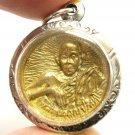 LP KOON BRASS COIN THAI BUDDHA MIRACLE LUCKY PENDANT AMULET MULTIPLY MONEY RICH