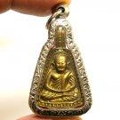 LP NGERN THAI POWERFUL BUDDHA BLESSING AMULET PENDANT MONEY LUCKY RICH SUCCESS