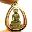 9 FACES LORD BUDDHA NAWAGOTE PENDANT THAI BRASS AMULET WIN OBSTACLES LUCKY RICH