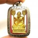 LP NGERN BANGKLAN REAL THAI BUDDHA BLESS AMULET PENDANT MONEY LUCKY RICH SUCCESS