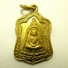 LP PHROM COIN BLESS IN 1972 MIRACLE FORTUNE LUCK YANT THAI BUDDHA AMULET PENDANT