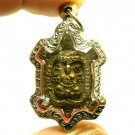 LP LEW BLESSED TURTLE REAL AMULET PENDANT MAGIC YANT THAI LUCKY LIFE PROTECTION