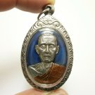 LP TOH BLUE COIN THAI BUDDHA AMULET PENDANT BLESS GREAT FORTUNE YANT OF SUCCESS
