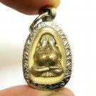 PIDTA SANGKAJAI PENDANT BLESSED 1960S HAPPY BUDDHA THAI MAGIC AMULET RICH MONEY