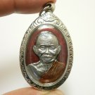 LP KOON COIN 1994 RED AMULET MULTIPLY MONEY RICH THAI REAL BUDDHA LUCKY PENDANT