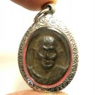 LP SUANG BLESSED 1974 BACK MAGIC CLOSE EYE BUDDHA AMULET LUCKY RICH THAI PENDANT