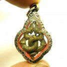 DUO NAGA NAK SNAKE PENDANT BLESSED REAL AMULET CHARM THAI LOVE APPEAL ATTRACTION