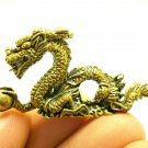 CHINESE DRAGON MINI BRASS AMULET LUCKY CHARM FENG SHUI MONEY WEALTH BLESSED RICH