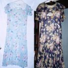 Two 1920s Floral Dresses