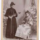 Female Musicians Cabinet Card - Occupational