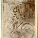 African Nude Bicyclist Cabinet Card