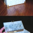 Lucite box purse with metal handle-CUTE!