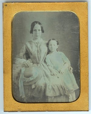 Quarter Plate Dag of Mother and Daughter