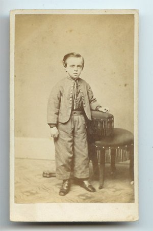 Young boy in a Home Made Civil War Uniform