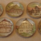 Set of Six Hand Numbered German Plates