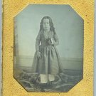 Sixth Plate Daguerreotype of a Girl in Pantaloons