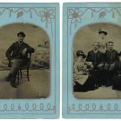 Group of Tintypes of a Family