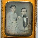 Man in a Blanket Tinted Daguerreotype