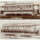 Five Street Car Photographs on Linen