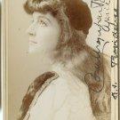 Cora Potter Autographed Cabinet Card