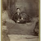 Young Boy in a Boat Cabinet Card