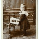 Girl with Cabinet Card Album