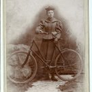 Lady with a Bicycle Cabinet Card