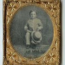 Boy with Large Hat Daguerreotype