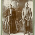 Man and Women with Bicycles Cabinet Card