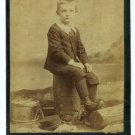 Boy and His Drum Cabinet Card