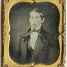 Young Man with Big Bow Tie Daguerreotype