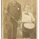Children Musicians: Violinsist and Drummer Boy