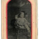 Young Girl and Her Doll Tintype