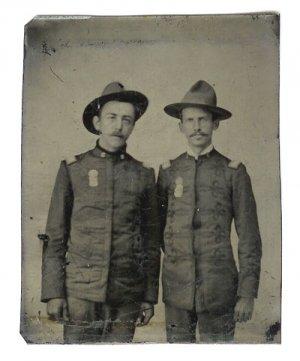 Span Am War Soldiers Tintype