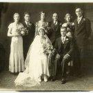 Depression-Era Wedding Party Photograph