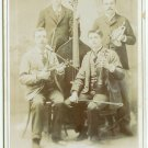 Strings and Brass Band Cabinet Card