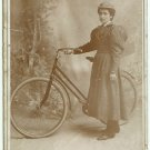 Lady and Her Bicycle Cabinet Card