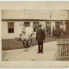 Milwaukee Fireman and Horse Albumen